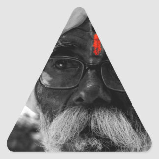 Indian Common man Triangle Sticker