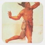 Indian Conjuror Square Sticker