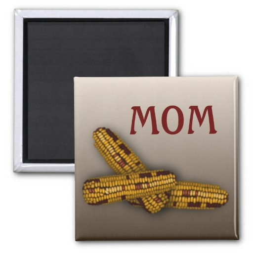 Indian Corn 2 Inch Square Magnet