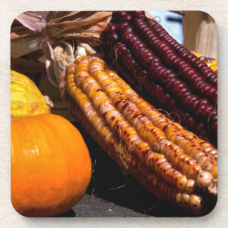 Indian Corn and Pumpkin Coasters