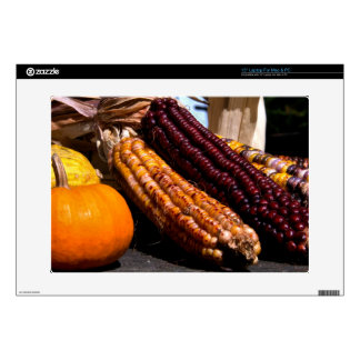 Indian Corn and Pumpkins Decals For Laptops
