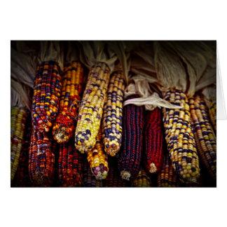Indian corn card