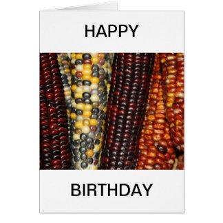 Indian Corn Happy Birthday Card