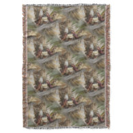 Indian Corn In Wicker Basket Nature Pattern Throw Blanket