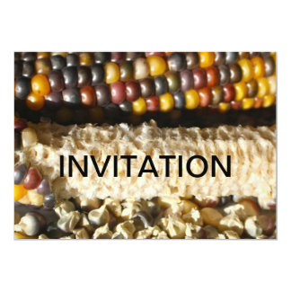 Indian Corn Invitation