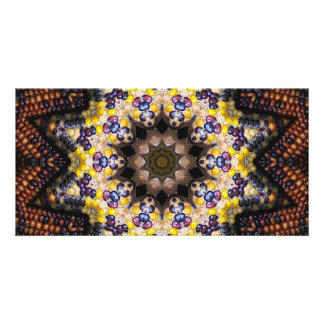 Indian Corn Kaleidoscope Art 1 Card