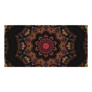 Indian Corn Kaleidoscope Art 2 Card