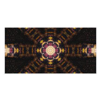 Indian Corn Kaleidoscope Art 3 Card