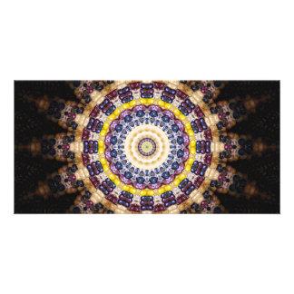 Indian Corn Kaleidoscope Art 4 Card
