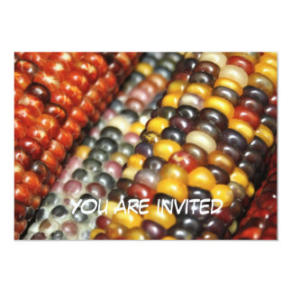 Indian Corn on the Cob Variety You are invited Card