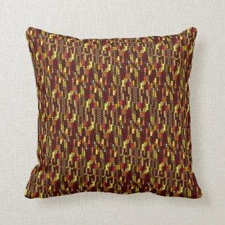 Indian Corn Pattern for Autumn Throw Pillow