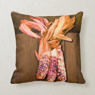 Indian Corn Square Throw Pillow