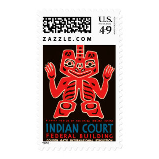 Indian Court, Federal Building Postage