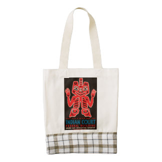 Indian Court, Federal Building Zazzle HEART Tote Bag