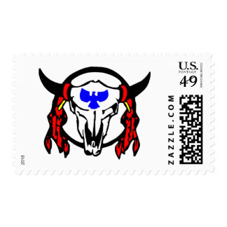 Indian Cow Skull Postage