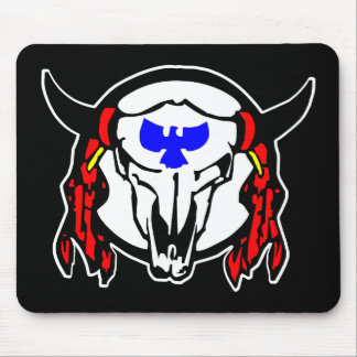 Indian CowskullBlack Mouse Pad