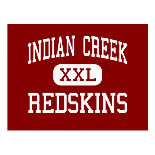 Indian Creek - Redskins - High - Wintersville Ohio Postcard
