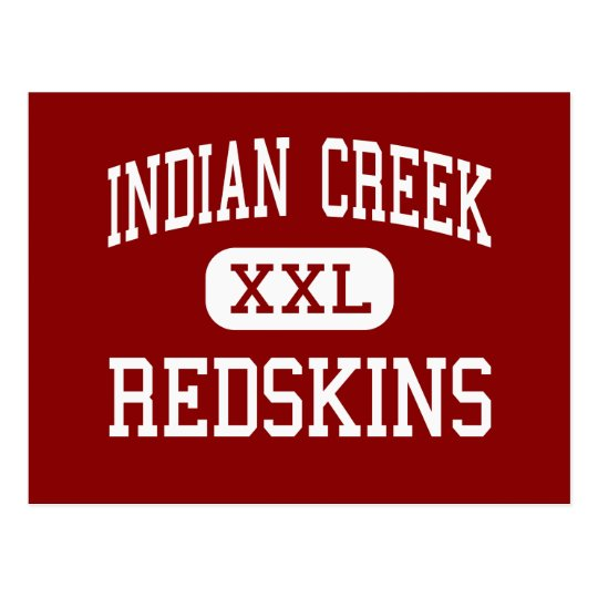 Indian Creek - Redskins - High - Wintersville Ohio Postcard
