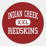 Indian Creek - Redskins - High - Wintersville Ohio Classic Round Sticker