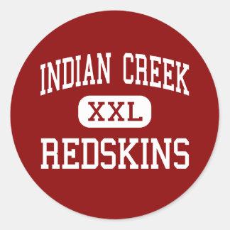 Indian Creek - Redskins - Junior - Mingo Junction Classic Round Sticker