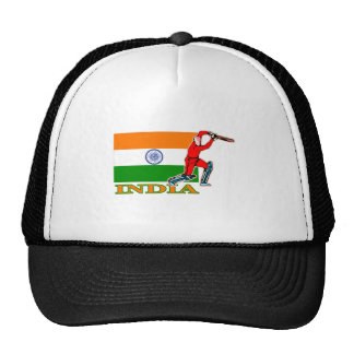 Indian Cricket Player Trucker Hat