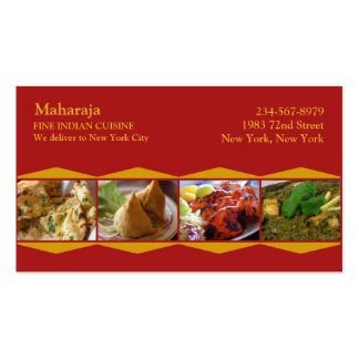 Indian Cuisine Business Card