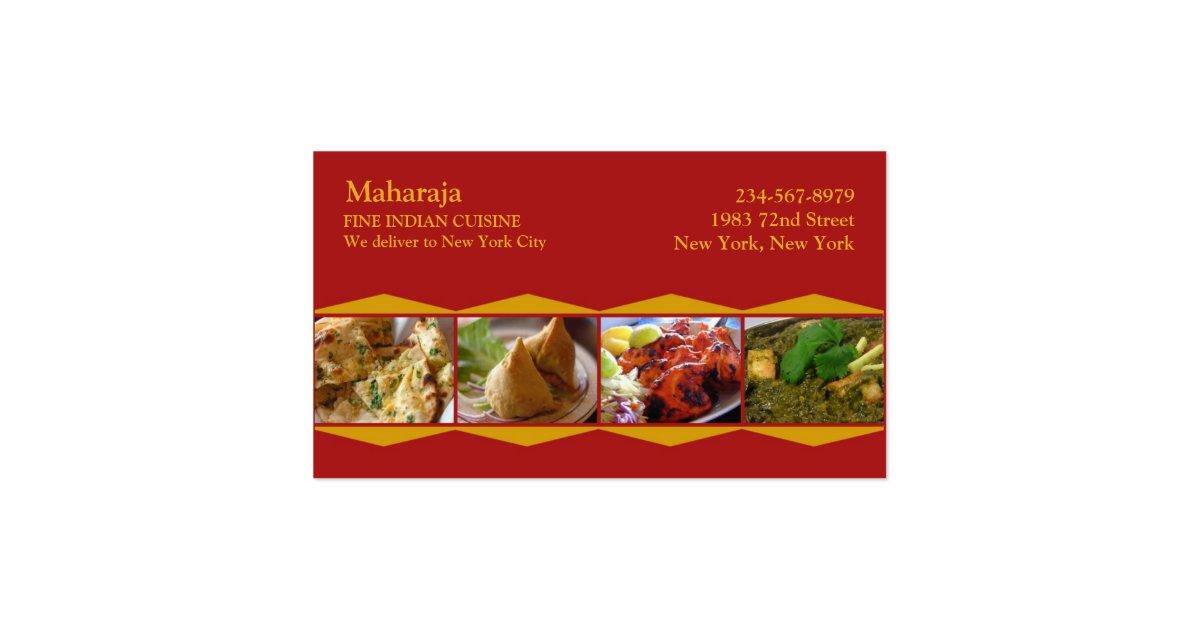 indian restaurant business card templates