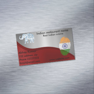 Indian cuisine business card magnet