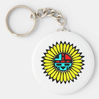 Indian Dance Shield Basic Round Button Keychain