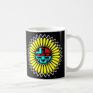 Indian Dance Shield Black Coffee Mug