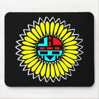 Indian Dance Shield Black Mouse Pad