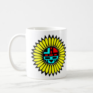 Indian Dance Shield Classic White Coffee Mug