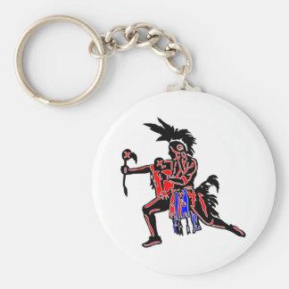 Indian Dancer Basic Round Button Keychain