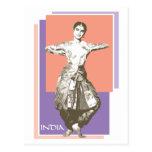Indian Dancer Postcard