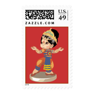 Indian Dancer (red) Stamps