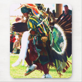 indian dancing at pow wow mouse pad