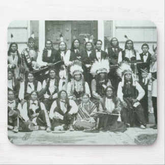 Indian delegation of Sioux leaders in Washington D Mouse Pad