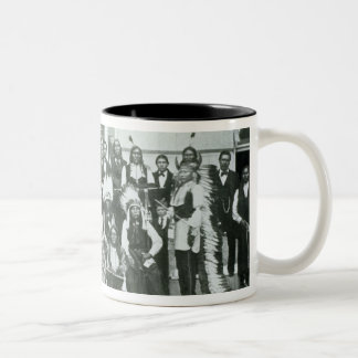 Indian delegation of Sioux leaders in Washington D Two-Tone Coffee Mug