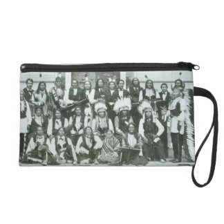 Indian delegation of Sioux leaders in Washington D Wristlet Purse