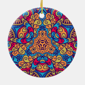 Indian Dream Kaleidoscope Ceramic Ornament
