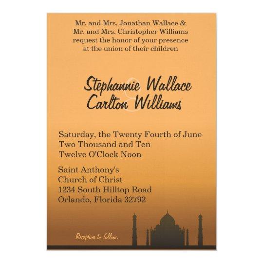 Indian Dream Wedding Invitation