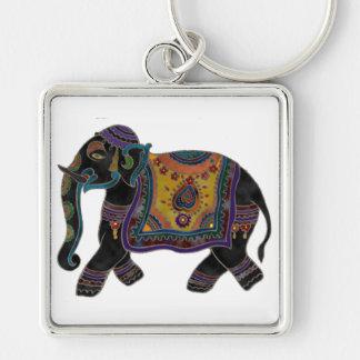 Indian Elephant Art Key Chain