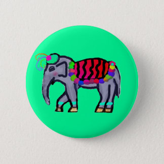 Indian Elephant Button