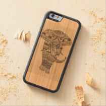 Indian elephant carved cherry iPhone 6 bumper case