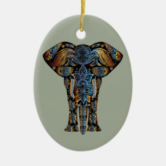 Indian elephant ceramic ornament