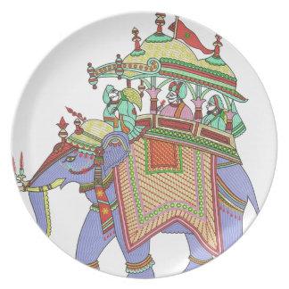 INDIAN ELEPHANT DESIGN PARTY PLATES