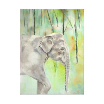 Indian Elephant fine art Canvas Print
