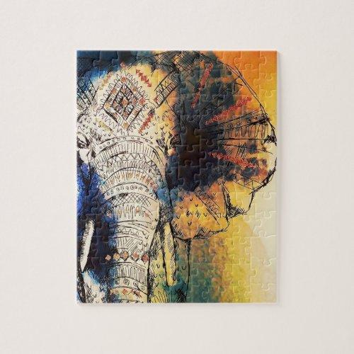 Indian elephant jigsaw puzzle