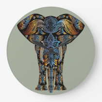 Indian elephant large clock