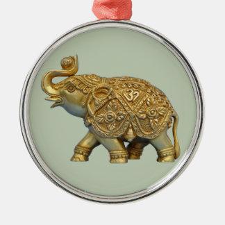 Indian Elephant Metal Ornament